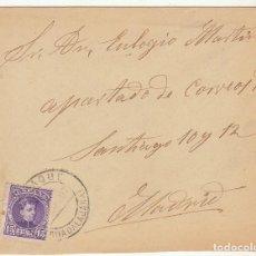 Sellos: SOBRE : SELLO 246. JADRAQUE-GUADALAJARA A MADRID. 1907. Lote 78309609