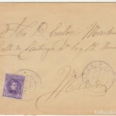 Sellos: SOBRE : SELLO 246. RIAZA-SEGOVIA A MADRID. 1906.. Lote 78310253