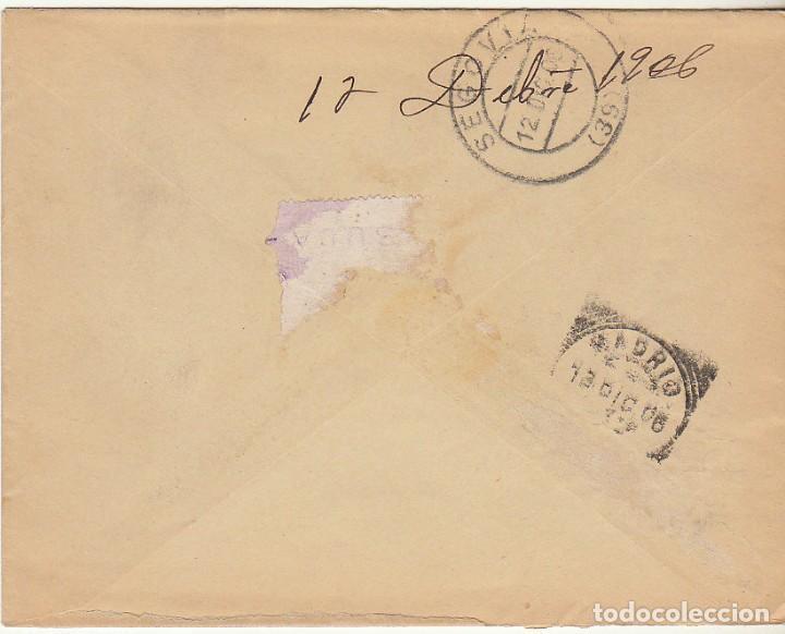 Sellos: SOBRE : Sello 246. RIAZA-SEGOVIA a MADRID. 1906. - Foto 2 - 78310253