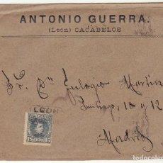 Sellos: SOBRE : SELLO 246. CACABELOS_LEÓN A MADRID. . Lote 78310841