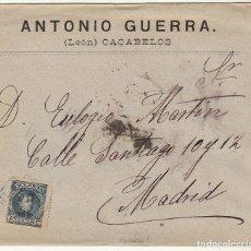 Sellos: SOBRE : SELLO 246. CACABELOS_LEÓN A MADRID. 1901.. Lote 78311177