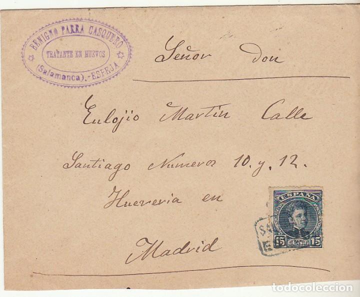 SOBRE : SELLO 246. ESPEJA-SALAMANCA A MADRID. 1902 (Sellos - España - Alfonso XIII de 1.886 a 1.931 - Cartas)