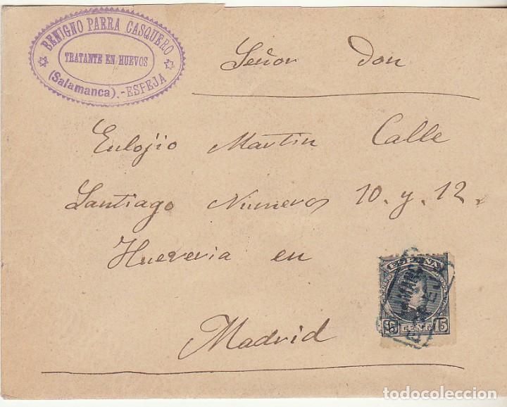 SOBRE : SELLO 246. ESPEJA-SALAMANCA A MADRID. 1901. (Sellos - España - Alfonso XIII de 1.886 a 1.931 - Cartas)