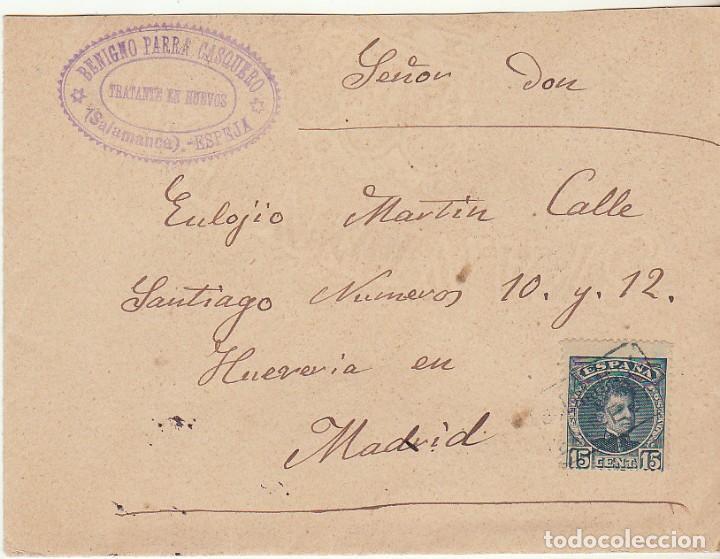 SOBRE : SELLO 246. ESPEJA-SALAMANCA A MADRID. 1902. (Sellos - España - Alfonso XIII de 1.886 a 1.931 - Cartas)