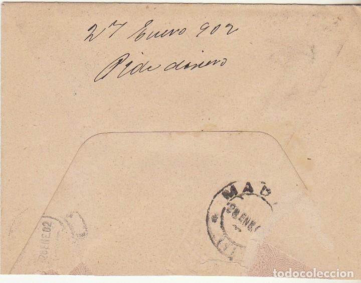 Sellos: SOBRE : Sello 246. ESPEJA-SALAMANCA a MADRID. 1902. - Foto 2 - 78312037