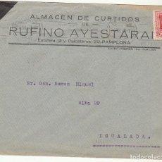 Sellos: SOBRE : SELLO 317. PAMPLONA A YGUALADA. 1929.. Lote 78315165