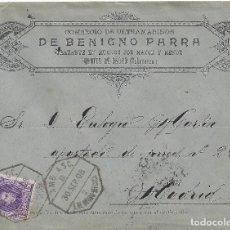 Sellos: CARTA MATASELLO AMBULANTE FUENTES DE OÑORO SALAMANCA MEDINA HISTORIA POSTAL SELLO CADETE. Lote 78425593