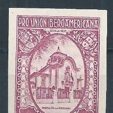 Sellos: R15/ ESPAÑA NUEVOS ** 1930, EDF. 579 S/D, CAT. 157€, PRO UNION IBEROAMERICANA. Lote 79281913
