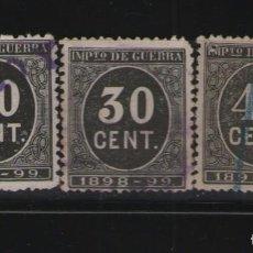 Sellos: 1898 CIFRAS MATASELLADOS.(LOS DE LA IMAGEN). Lote 79601437