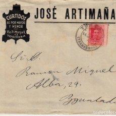 Sellos: SOBRE COMERCIAL TORTOSA DE CURTIDOS JOSÉ ARTIMAÑA. Lote 79788705