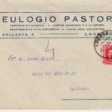 Sellos: SOBRE COMERCIAL LOGROÑO DE CURTIDOS EULOGIO PASTOR . Lote 80019969