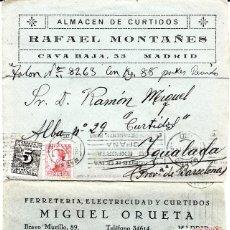 Sellos: LOTE DE 5 SOBRES COMERCIALES DE ALMACENES DE CURTIDOS DE MADRID . Lote 80026961