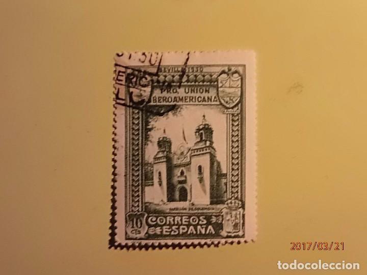 1930 - PRO UNIÓN IBEROAMERICANA - EDIFIL 569 - PABELLON DE COLOMBIA (Sellos - España - Alfonso XIII de 1.886 a 1.931 - Usados)