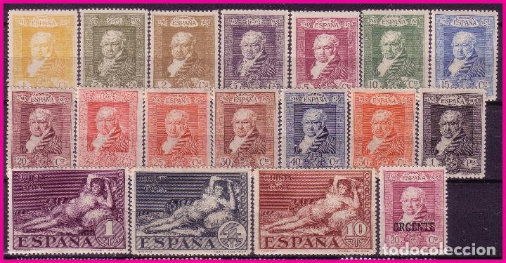 1930 GOYA, EDIFIL Nº 499 A 516 * * LUJO (Sellos - España - Alfonso XIII de 1.886 a 1.931 - Nuevos)