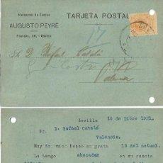 Sellos: ALMACENES DE CAMINO. AUGUSTO PEYRÉ. ALFONSO XIII. MEDALLÓN 15CTS. 16 DE DICIEMBRE DE 1921. Lote 80976040