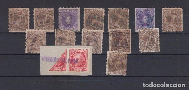 SORIA. MATASELLO TIPO CARTERÍA (Sellos - España - Alfonso XIII de 1.886 a 1.931 - Usados)
