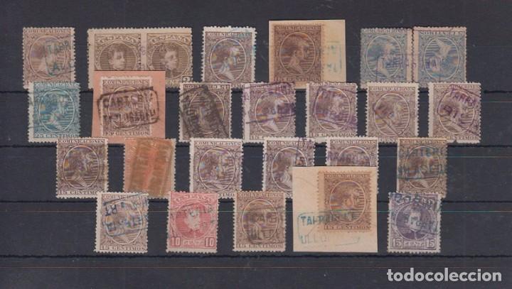 TARRAGONA. MATASELLOS TIPO CARTERÍA (Sellos - España - Alfonso XIII de 1.886 a 1.931 - Usados)