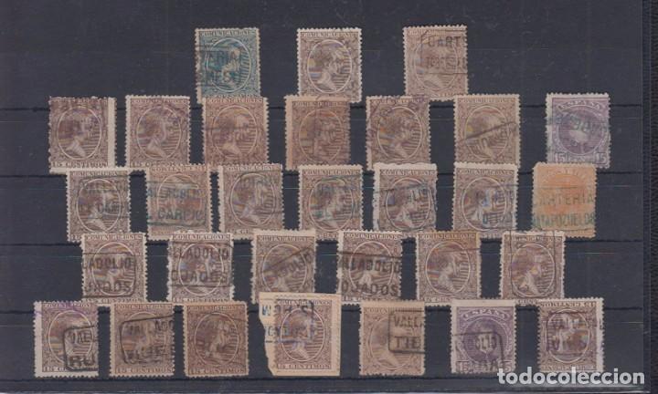 VALENCIA- VALLADOLID. MATASELLOS TIPO CARTERÍA (Sellos - España - Alfonso XIII de 1.886 a 1.931 - Usados)