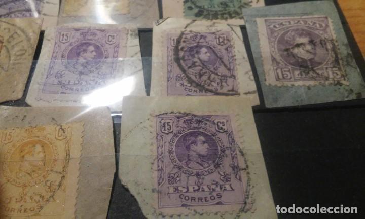 Sellos: 13 SELLOS DE ALFONSO XIII CON MATASELLOS INTERESANTES - Foto 3 - 84909244