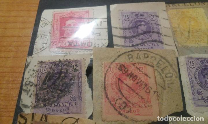 Sellos: 13 SELLOS DE ALFONSO XIII CON MATASELLOS INTERESANTES - Foto 5 - 84909244