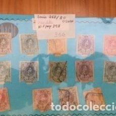 Sellos: SERIE COMPLETA CIRCULADA ALFONSO XIII , 267/80. Lote 85219764