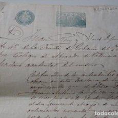 Sellos: VALENCIA. TIMBRES NOTARIAL Y COLEGIO DE ABOGADOS DE VALENCIA. 1904. CERTIFICACIÓN INCORPORACIÓN. Lote 86896752