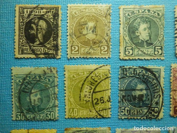 Sellos: Sello - España - Correos - Lote de 33 sellos Alfonso XIII - Todos diferentes - - Foto 2 - 183454535