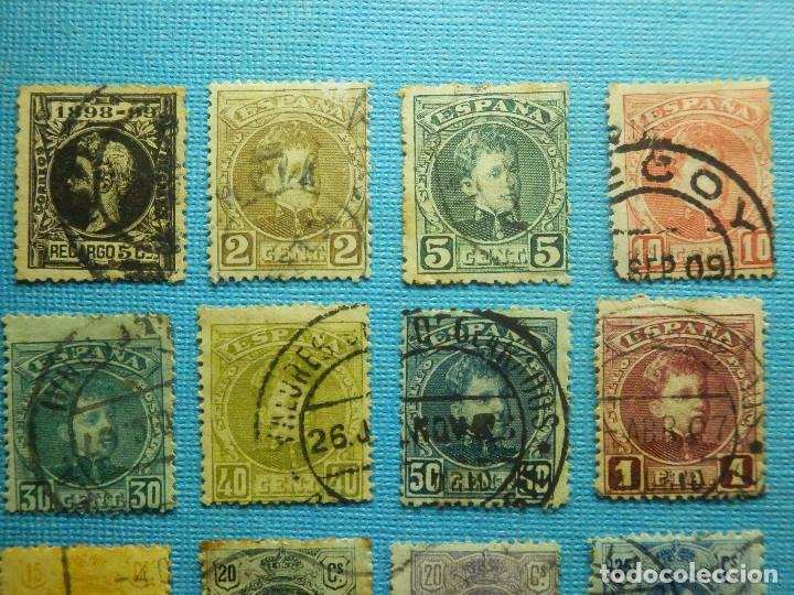 Sellos: Sello - España - Correos - Lote de 33 sellos Alfonso XIII - Todos diferentes - - Foto 3 - 183454535