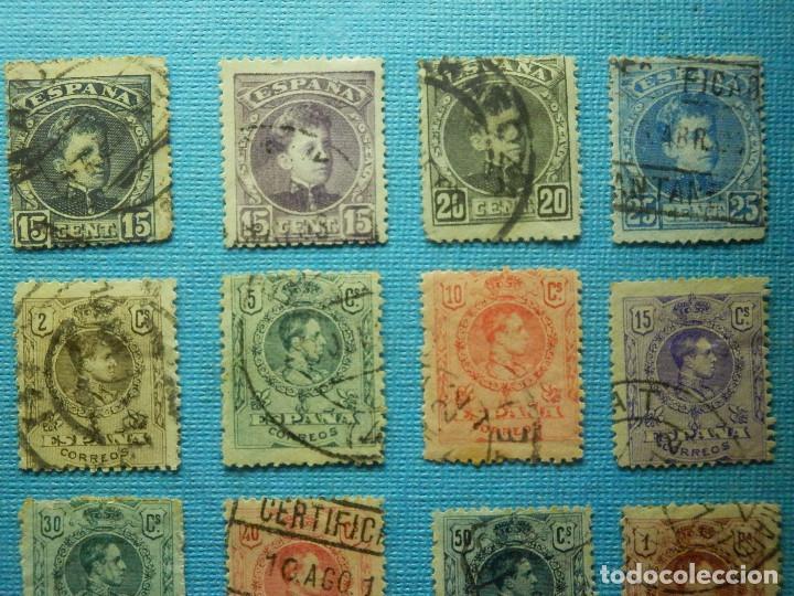 Sellos: Sello - España - Correos - Lote de 33 sellos Alfonso XIII - Todos diferentes - - Foto 4 - 183454535