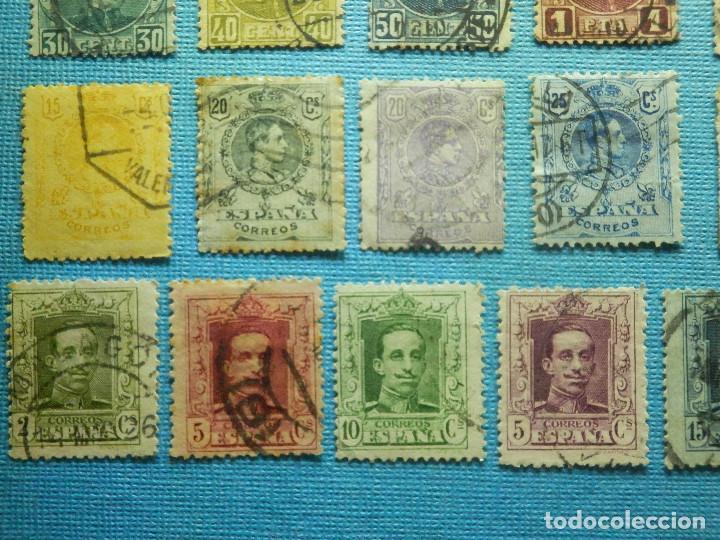 Sellos: Sello - España - Correos - Lote de 33 sellos Alfonso XIII - Todos diferentes - - Foto 5 - 183454535
