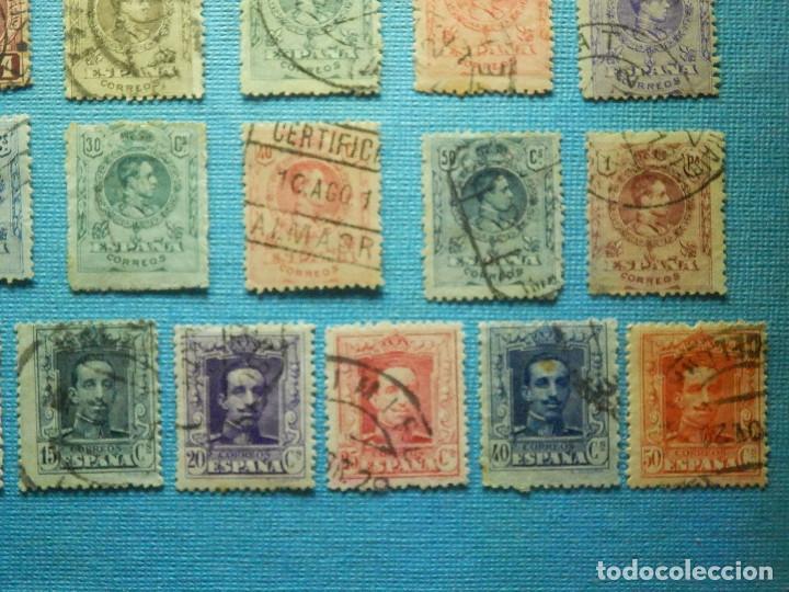 Sellos: Sello - España - Correos - Lote de 33 sellos Alfonso XIII - Todos diferentes - - Foto 6 - 183454535