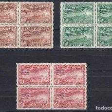 Sellos: 1931 EDIFIL 630/34** NUEVOS SIN CHARNELA. DE 630/35. BLOQUE DE CUATRO. UNION POSTAL. Lote 101240260
