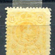 Sellos: EDIFIL 271.15 CTS. ALFONSO XIII, TIPO PELÓN, AMARILLO. NUEVO SIN GOMA.. Lote 88969028