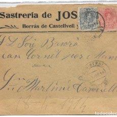 Sellos: EDIFIL 268-269. DE MONISTROL (BARCELONA) A SAN MARTIN DE TORRUELLA. 20-ABR-1914.. Lote 89278740