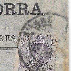 Sellos: EDIFIL 270. VARIEDAD SALTO DE PEINE. DE MANRESA A SAN MARTIN DE TORRUELLAS. 1914. . Lote 89282472