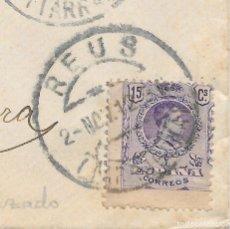 Sellos: EDIFIL 270. VARIEDAD DENTADO MUY DESPLAZADO. DE REUS A SAN MARTIN DE TORRUELLAS. 1912. Lote 89282668