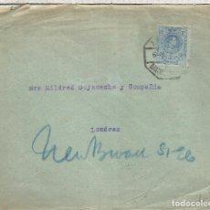 Sellos: CC A LONDRES 1920 MAT AMBULANTE SANTANDER AL DORSO LLEGADA. Lote 90558340