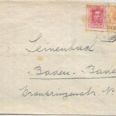 Sellos: CC CON MAT AMBULANTE 1924 SELLOS ALFONSO XIII VAQUER MEDALLON. Lote 90559575