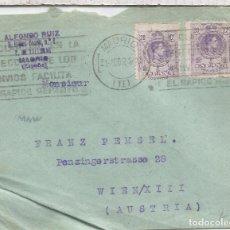 Sellos: CC CON MAT RODILLO MADRID 1924 SELLOS ALFONSO XIII MEDALLON. Lote 90559715