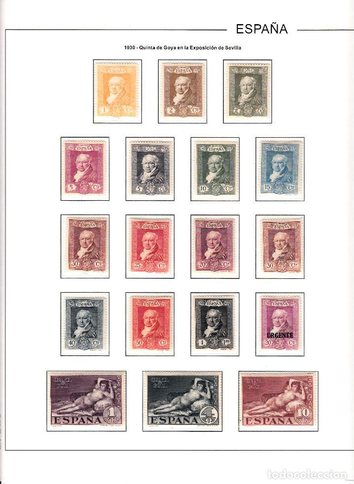 1930- QUINTA DE GOYA NUMS 499-516 CON SEÑAL DE FIJASELLOS -CATÁLOGO 65E.LIQ.COLECCIÓN (Sellos - España - Alfonso XIII de 1.886 a 1.931 - Nuevos)