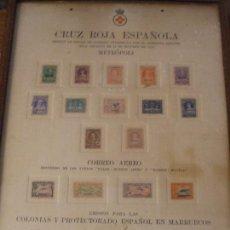 Sellos: CUADRO OFICIAL PRO CRUZ ROJA SOBRECARGA MUESTRA ESPAÑA 326/34,336/8,339,341/2,346,CABO JUBY 26, GUI+. Lote 95802415