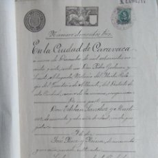 Sellos: W72-1897 SELLOS IMPUESTO GUERRA,UNICO PARA VENTA ESCRITURA DOCUMENTO COMPLETO SELLOS FISCALES MORATA. Lote 95926515