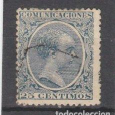 Selos: ESPAÑA 1889-99 EDIFIL NRO. 221 - ALFONSO XIII - EL PELON - USADO. Lote 96525019