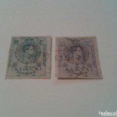 Sellos: SELLOS ALFONSO XIII 15 Y 25 CENTIMOS SIN DENTAR ALTO VALOR LUJO SALIDA 1 EURO. Lote 96646835