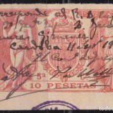 Sellos: 1902 - FISCAL PAPEL TIMBRADO - 5º CLASE 10 PESETAS - RECIBO EMPLEO MILITAR CORDOBA. Lote 96746383