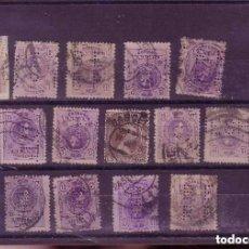Sellos: GRAN LOTE DE SELLOS ALFONSO XIII - PERFORADOS CARTERIA - VER 2 IMAGENES SALIDA 1 EURO . Lote 97106927