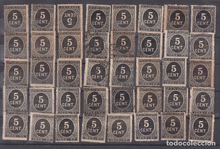 ESPAÑA 236 USADA, LOTE DE 40 SELLOS DIVERSAS CALIDADES Y MATASELLOS, (Sellos - España - Alfonso XIII de 1.886 a 1.931 - Usados)
