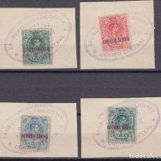 Sellos: 1920 EDIFIL Nº 292 , 293 , 294 , 295 , MATASELLOS CORREO CENTRAL , . Lote 97742175