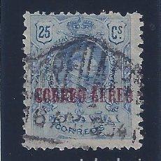 Sellos: EDIFIL 294 ALFONSO XIII. TIPO MEDALLÓN. SELLO DE 1909 HABILITADO CORREO AÉREO. 1920.. Lote 98037803