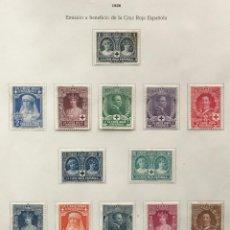 Sellos: 13 SELLOS ESPAÑA CRUZ ROJA ESPAÑOLA AÑO 1926-NUEVOS SEÑAL FIJASELLOS-SERIE INCOMPLETA.DENTADOS. Lote 99291351
